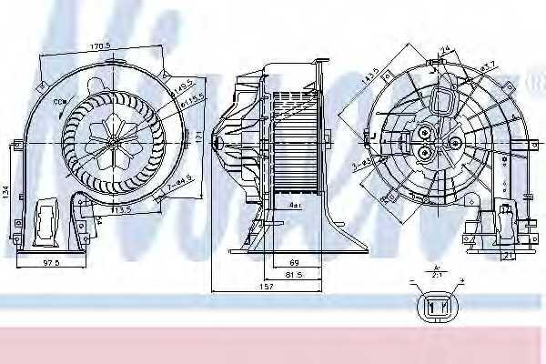 Вентилятор салона NISSENS 87049 - изображение