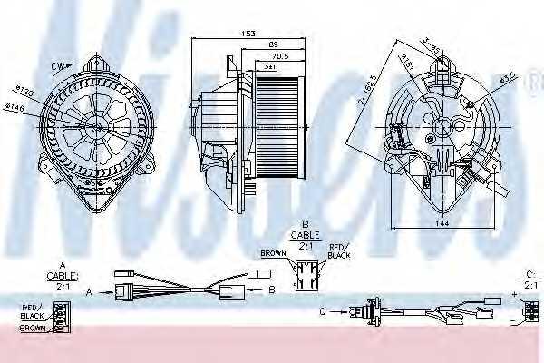 Вентилятор салона NISSENS 87050 - изображение