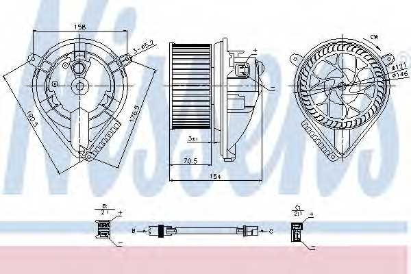 Вентилятор салона NISSENS 87052 - изображение