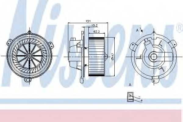 Вентилятор салона NISSENS 87056 - изображение