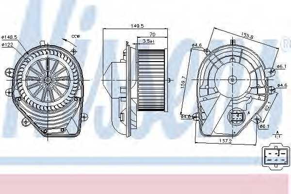 Вентилятор салона NISSENS 87060 - изображение