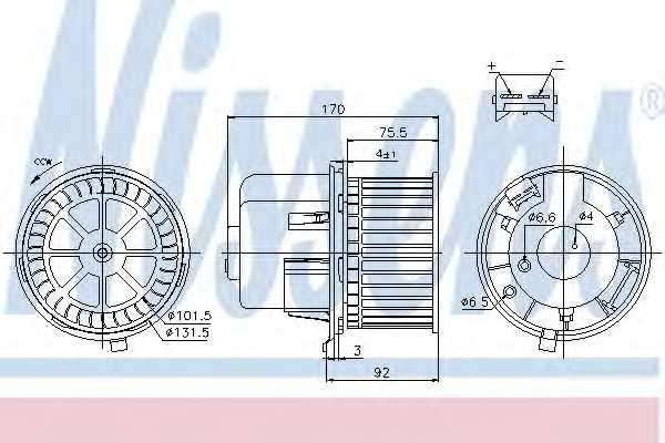 Вентилятор салона NISSENS 87061 - изображение