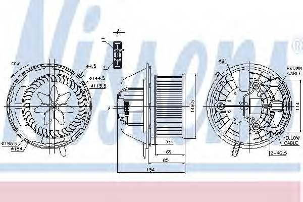 Вентилятор салона NISSENS 87062 - изображение
