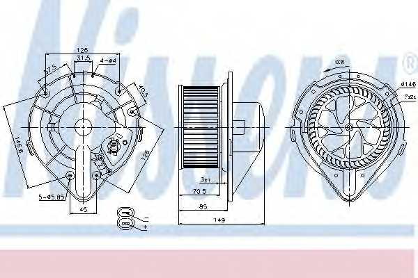 Вентилятор салона NISSENS 87064 - изображение