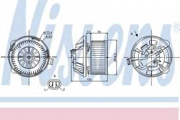 Вентилятор салона NISSENS 87065 - изображение