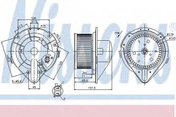 Вентилятор салона NISSENS 87066 - изображение
