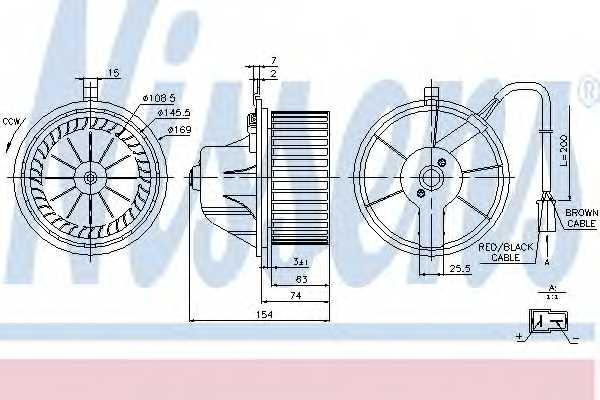 Вентилятор салона NISSENS 87068 - изображение