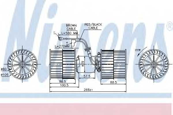 Вентилятор салона NISSENS 87071 - изображение