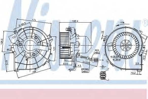 Вентилятор салона NISSENS 87080 - изображение