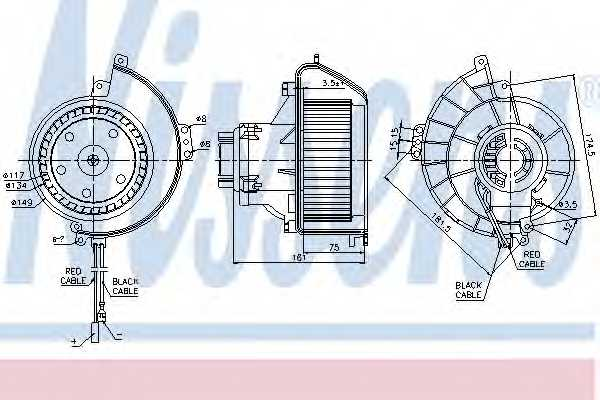 Вентилятор салона NISSENS 87081 - изображение