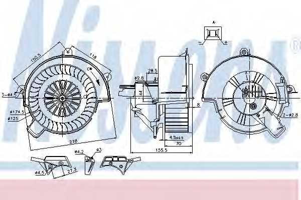Вентилятор салона NISSENS 87083 - изображение
