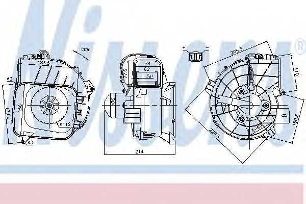 Вентилятор салона NISSENS 87084 - изображение