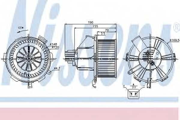 Вентилятор салона NISSENS 87085 - изображение