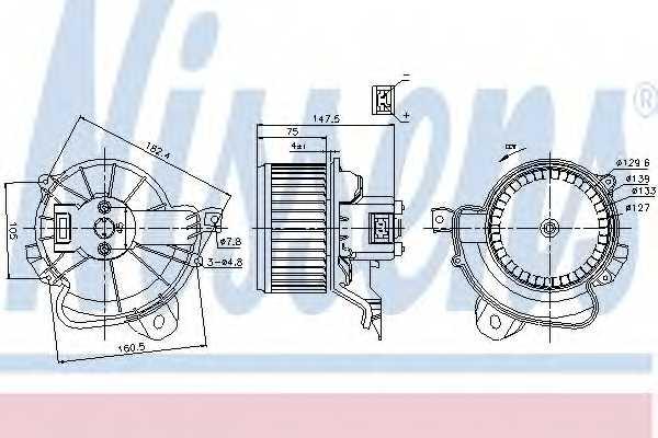 Вентилятор салона NISSENS 87086 - изображение