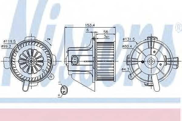 Вентилятор салона NISSENS 87090 - изображение
