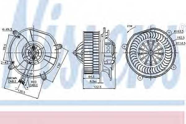 Вентилятор салона NISSENS 87103 - изображение