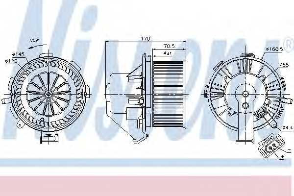 Вентилятор салона NISSENS 87105 - изображение