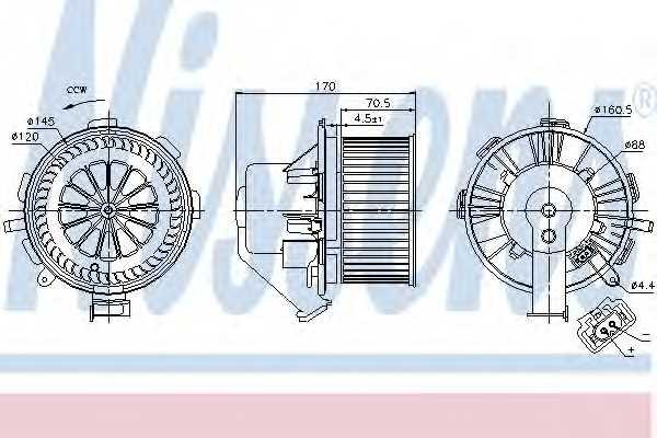 Вентилятор салона NISSENS 87106 - изображение