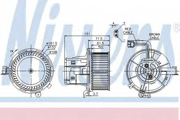 Вентилятор салона NISSENS 87109 - изображение