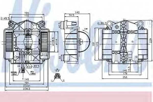 Вентилятор салона NISSENS 87110 - изображение