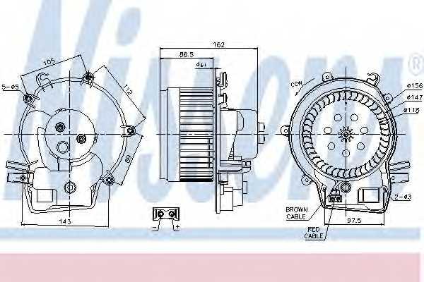 Вентилятор салона NISSENS 87111 - изображение