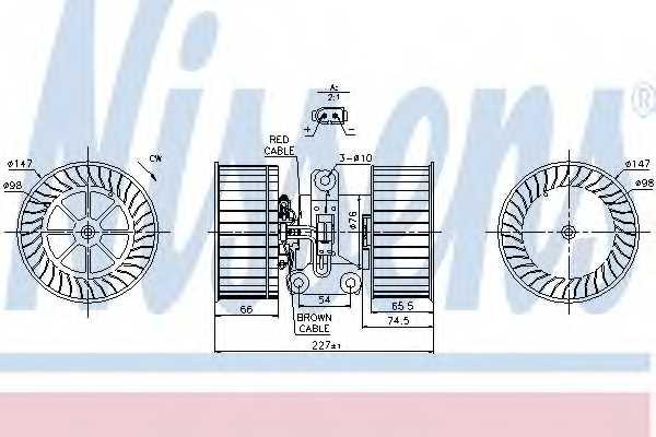 Вентилятор салона NISSENS 87114 - изображение
