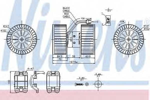Вентилятор салона NISSENS 87115 - изображение