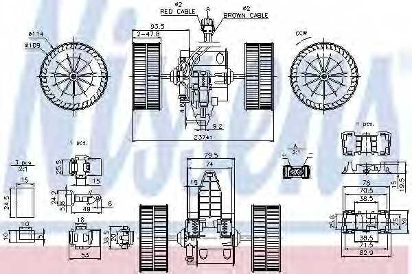 Вентилятор салона NISSENS 87117 - изображение