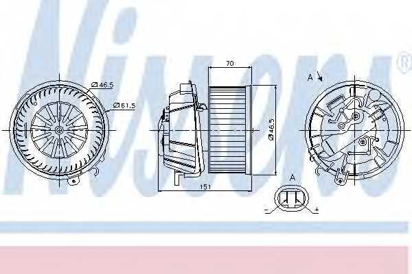 Вентилятор салона NISSENS 87127 - изображение