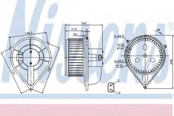 Вентилятор салона NISSENS 87128 - изображение