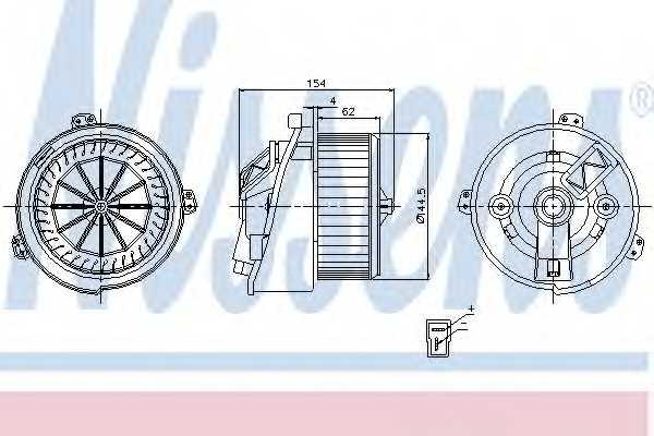 Вентилятор салона NISSENS 87129 - изображение