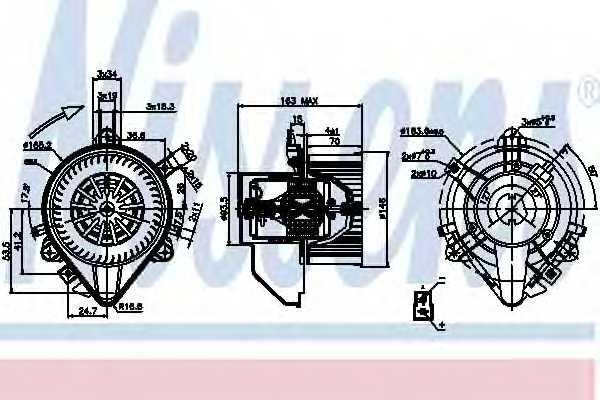 Вентилятор салона NISSENS 87131 - изображение