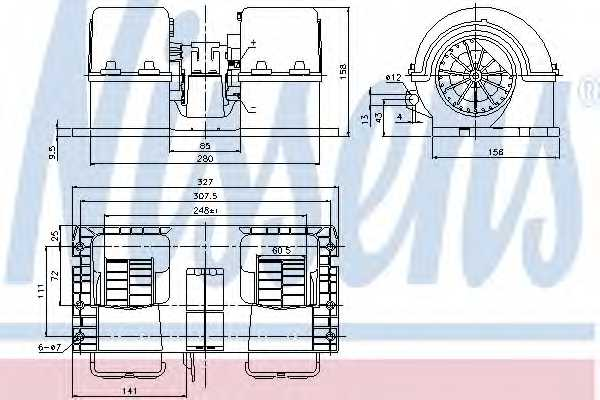 Вентилятор салона NISSENS 87132 - изображение