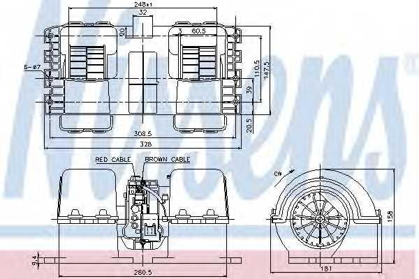 Вентилятор салона NISSENS 87133 - изображение
