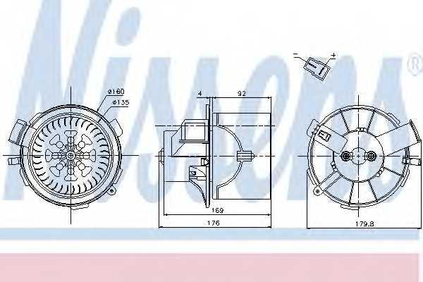 Вентилятор салона NISSENS 87138 - изображение