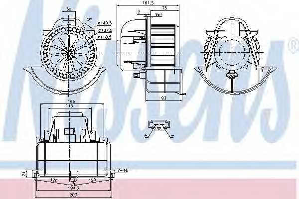 Вентилятор салона NISSENS 87139 - изображение