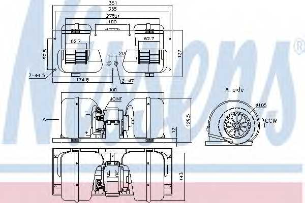 Вентилятор салона NISSENS 87141 - изображение