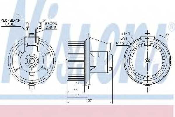 Вентилятор салона NISSENS 87148 - изображение