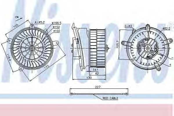 Вентилятор салона NISSENS 87152 - изображение