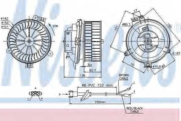 Вентилятор салона NISSENS 87153 - изображение