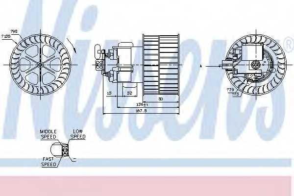 Вентилятор салона NISSENS 87154 - изображение