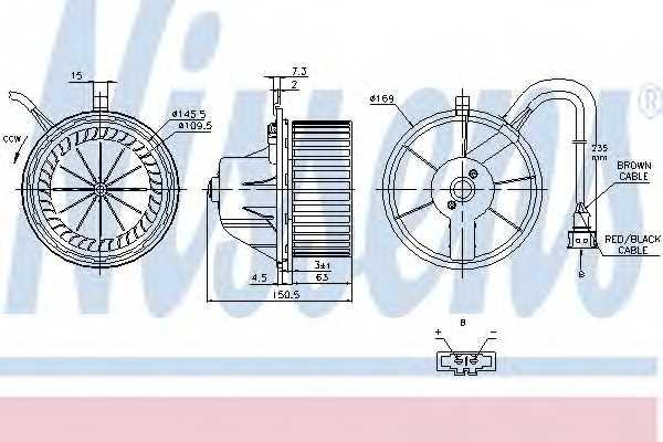 Вентилятор салона NISSENS 87155 - изображение