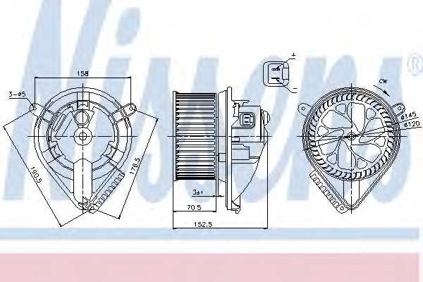 Вентилятор салона NISSENS 87156 - изображение