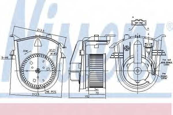 Вентилятор салона NISSENS 87176 - изображение