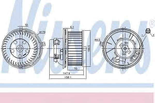 Вентилятор салона NISSENS 87187 - изображение
