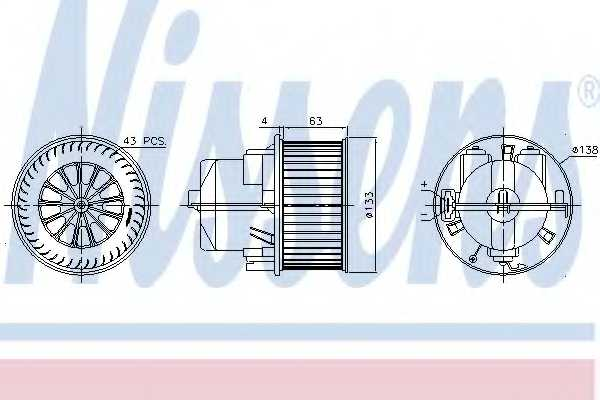 Вентилятор салона NISSENS 87223 - изображение