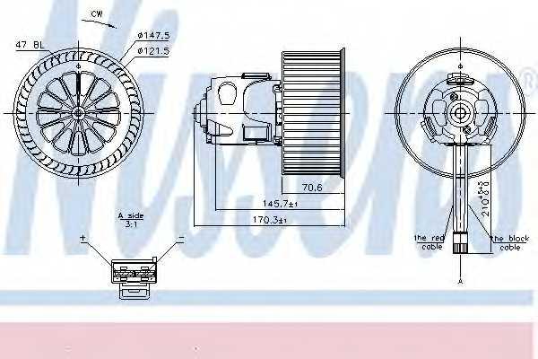 Вентилятор салона NISSENS 87240 - изображение