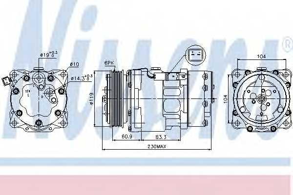 Компрессор кондиционера NISSENS 89032 - изображение