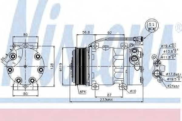 Компрессор кондиционера NISSENS 89035 - изображение