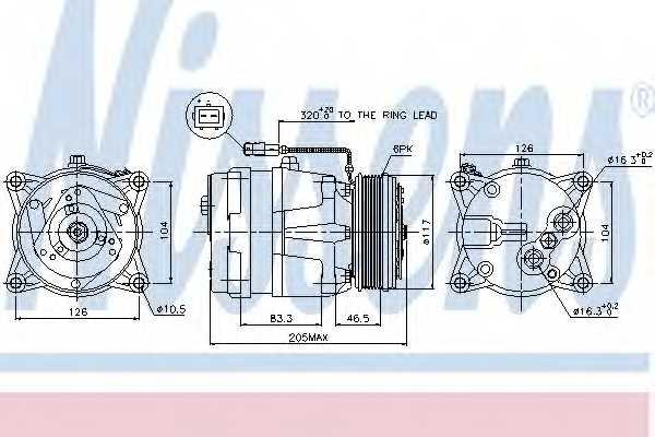 Компрессор кондиционера NISSENS 89060 - изображение